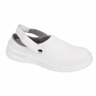 Blackrock SRC02 WHITE Safety Work Clogs Shoes Toe Cap Food Medical Lab Catering