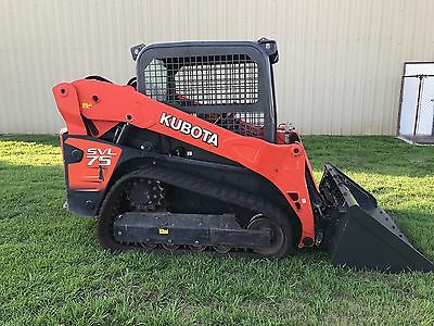 2014 Kubota Svl75  Skid Steer Track Loader - 2 Speed - 75 Hp Turbo Diesel