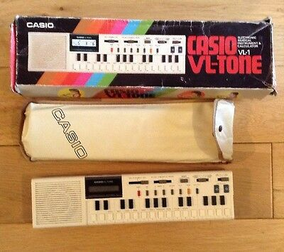 Working Casio VL-Tone VL-1 Electronic Musical Instrument & Calculator Keyboard