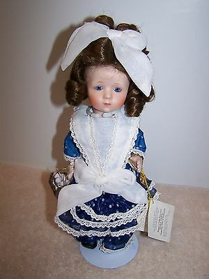 Vtg. Marie Osmond Miracle Children Little Farm Girl Rebecca Porcelain Doll 10""