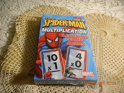 Amazing Spiderman Multiplication Learning Game Cards Super Hero