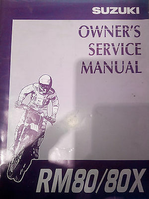 Suzuki owners service manual 1996 RM80/80x