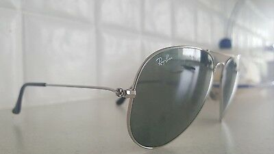 Ray Ban RB 3025 Aviator Classic Silver Frame/Grey Mirror Lens Sunglasses 55mm
