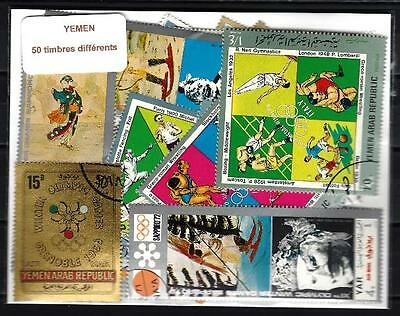 Yemen 50 timbres différents