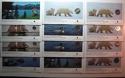 Lot of 12 Canada 2005 First Day Coinage Strikes in Holder**FREE U.S SHIPPING**