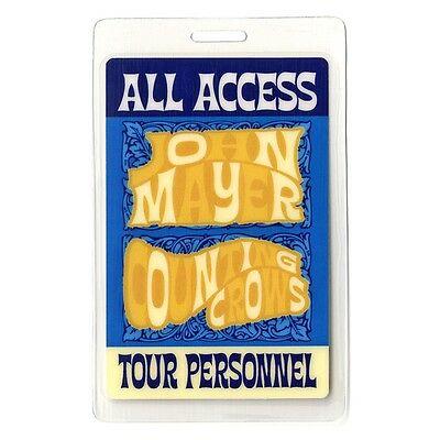John Mayer authentic 2003 concert tour Laminated Backstage Pass Counting Crows