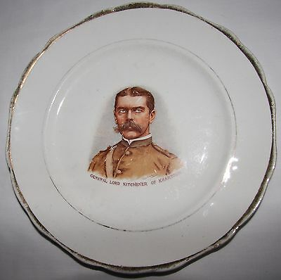 Plate with General Lord Kitchener of Khartoum. Boer War antique. Thomas Bowen.