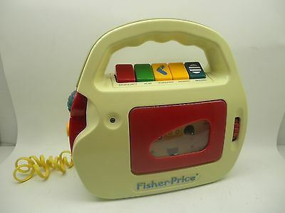 Vtg Kids Fisher Price Tape Recorder Microphone Durable Cassette Player 3800 Toy