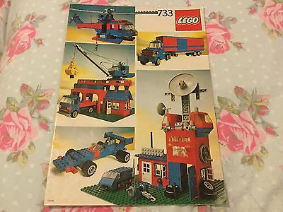 ⭐️ Vintage Lego Instructions 733 Complete Booklet 1980 Good Fast Free Post ⭐️