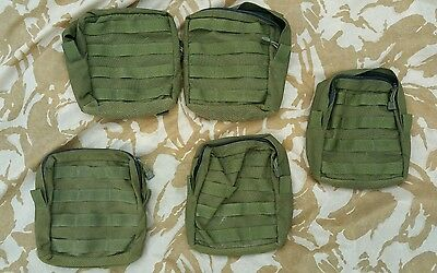 British Army BlackHawk Olive Green Webbing Pouch Large Utility / Medic Molle