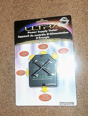 Ultra 7-in-1 Power Supply Tester-tests motherboards, SATA, P4/EPS & more NEW NIP