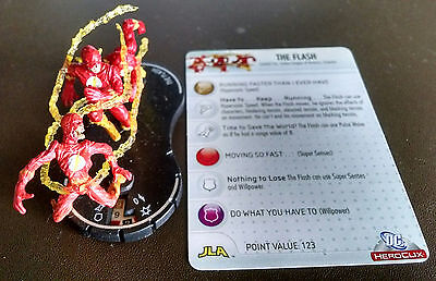 The Flash #057 SR Crisis Heroclix with card super rare Crisis on Infinite Earths