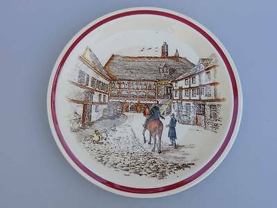 Vernon Kilns California Pottery Bits of Old England Old Inn Plate 7 EXC