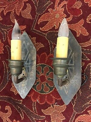 Mission Style Iron Wall Sconces Spanish Revival Vintage