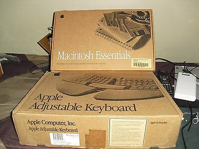 Vintage Apple Macintosh Adjustable Keyboard original box Good Condition Colored