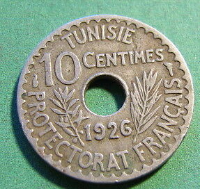 1926 Tunisia 10 Cents SNo13904