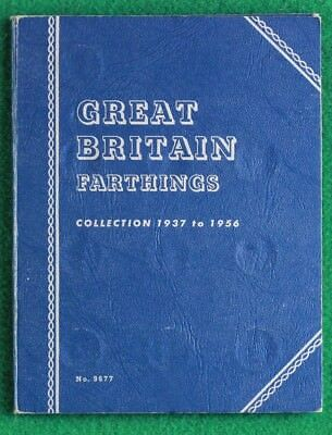 1937 to 1956 George VI Elizabeth II Complete Whitman Farthing folder SNo38688