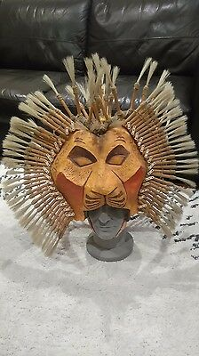 Lion King musical/Broadway-inspired Simba lion headdress/mask/cosplay/costume