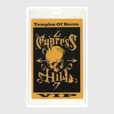 Cypress Hill authentic 1995 concert Laminated Backstage Pass Temple of Boom Tour