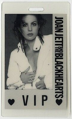 Joan Jett authentic 1990 concert Laminated Backstage Pass Hit List Tour VIP