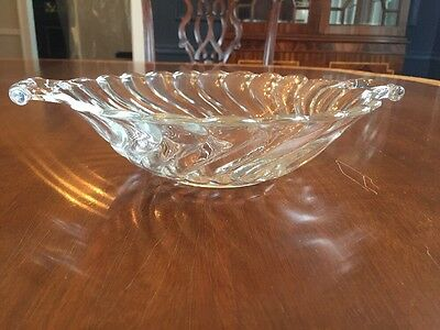 FOSTORIA Glass:  COLONY PATTERN:  Two Handled Round Bowl / 10 1/2 Inches