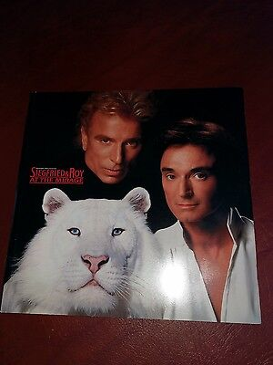 Siegfried and Roy At the Mirage Las Vegas Show Program 1998