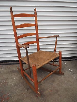 Antique Shaker Rocker - Ladder Back Rocking Chair