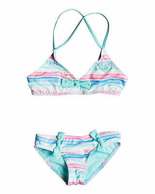 NEW ROXY™  Girls 2-7 Palmo Kids Fixed Tri Set Bikini Girls Swimwear