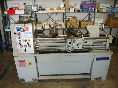 Sharp Model 1440F 14x40 Gap Bed Engine Lathe with Sony DRO
