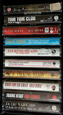TALKING HEADS David Byrne 10 Cassette Tape Lot: NAKED Speaking In Tongues STOP +