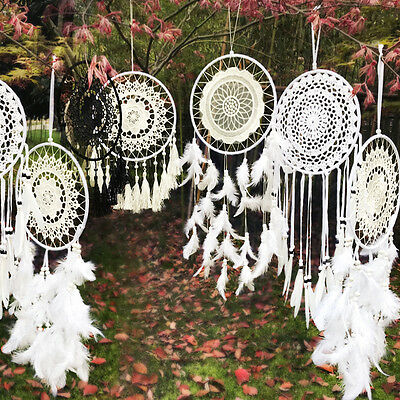 Handmade Dream Catcher Feathers Beads Wall Hanging Decoration Car Ornament Gift