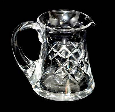 Vintage cut crystal pretty tall cream jug in lovely condition