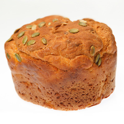 Fresh Baked Pumpkin and Pepita Bread Loaf Dairy Egg Free