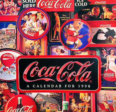 Coca-Cola Collectible 1998 Nostalgia Vintage Coke Advertisement Calendar – New