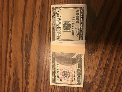 One Hundred Dollar Prop Money 100 Pieces 10,000$