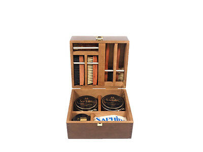 Saphir Medaille Valet Box Shoe Care Set, Brand New