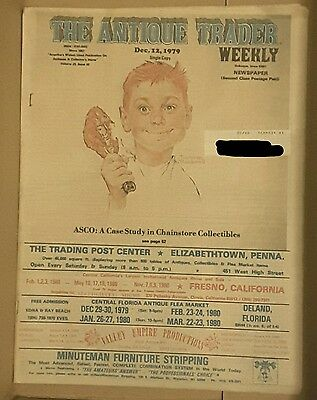 Vintage Antique Trader Weekly Newspaper December 12, '79/Chainstore Collectibles