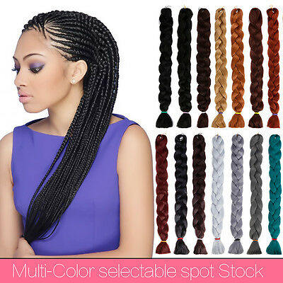 "1Pc 41"" Ombre Kanekalon Jumbo Synthétique Tresse extension de cheveux Spiral"