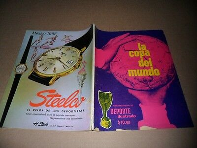 "1966 England World Cup : Mexican Original Rare Program WC "" La Copa del Mundo """