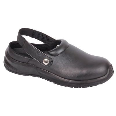 Blackrock SRC02 BLACK Safety Work Clogs Shoes Toe Cap Food Medical Lab Catering