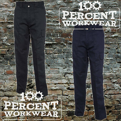 Uneek Mens Work Cargo Combat Black Navy Trousers Pants Short Reg Tall Low Price