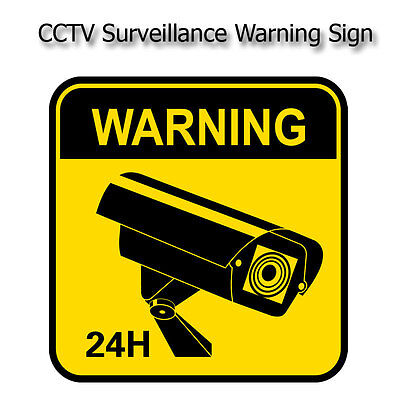 CCTV Security Camera Warning Sticker Sign Self-adhensive Safety Security Decal