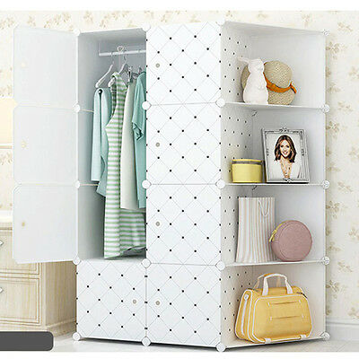 Newest Wardrobe Detachable Clothes Closet Storage Rack Indoor Cabinet Organizer