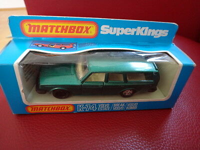 ALTER VOLVO ESTATE VOLVO KOMBI AUTO MATCHBOX SUPERKINGS K-74 mit OVP von 1981