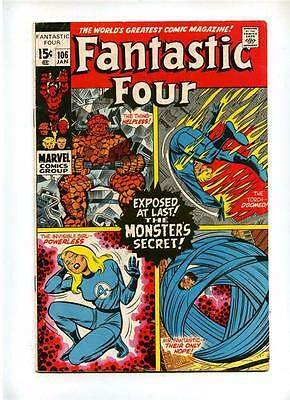 Fantastic Four #106 - Marvel 1971 - VG/FN