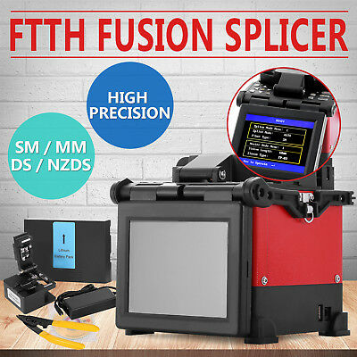 FTTH Fiber Optic Splicing Machine Fusion Splicer Scientific Adaptor Cleaver