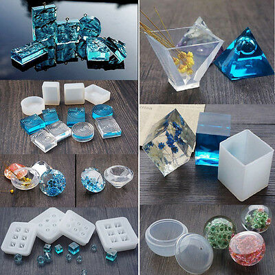 DIY Beads Pendant Gem Silicon Mold Mould Resin Casing Craft Making Tool Jewelry