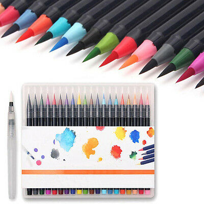 20 Colors Art Oil Watercolor Drawing Painting Brush Sketch Manga Pen Set Useful