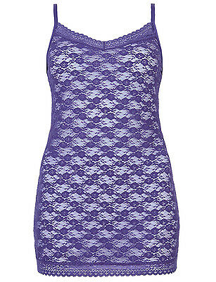 Ex M&S Halanka Cami/Vest Top In Purple Or Sunset Lace 12,14,16,18,20