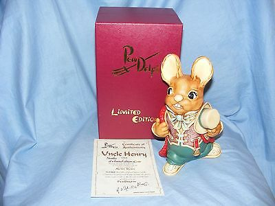 Pendelfin Stoneware Rabbit Uncle Henry Burnley England Boxed Limited Edition